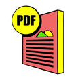pdf file icon cartoon vector image vector image