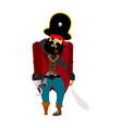 pirate sad filibuster melancholy buccaneer vector image vector image