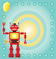robot birthday party invitation vector image vector image