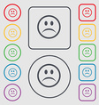 Sad face Sadness depression icon sign symbol on vector image vector image