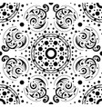 seamless abstract pattern in black and white vector image vector image