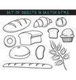 Set of 10 doodle bread baking Sketch bread Doodle vector image vector image