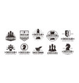 set vintage badge emblem chess logo icon vector image