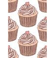 Sketch tasty cupcke in vintage style vector image vector image