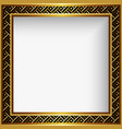 square gold frame vector image
