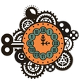 Steampunk mechanical watches vector image vector image