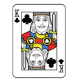 Stylized King of Clubs vector image vector image