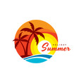 summer holiday - concept business logo vector image vector image