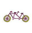 tandem bike icon travel printed art vector image vector image