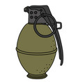 the old hand grenade vector image