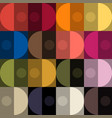 trendy color seamless patt by plain color patches vector image vector image