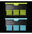 Two stylish website templates vector image vector image