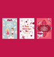 valentine poster text font character boy girl vector image