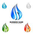 water drop oil gas 3d blue drop logo design