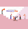 womens day card woman friends at protest vector image