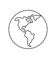 world earth isolated vector image