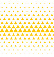 yellow white triangle pattern halftone background vector image vector image