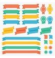Ribbon and Labels Set vector image