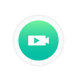 movie play icon vector image
