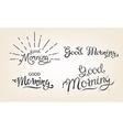 good morning lettering set vector image