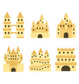 sand castle isolated in flat style cartoon vector image