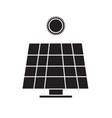 solar energy panel icon on white background solar vector image