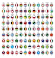 108 Map gray marker with flags Big set vector image vector image