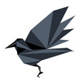 abstract low poly raven icon vector image vector image