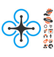 airdrone icon with love bonus vector image vector image