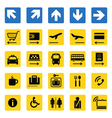 Airport information signs isolated vector image