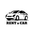 auto car logo rent vector image