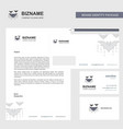 bat business letterhead envelope and visiting vector image vector image