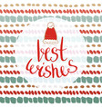 best wishes - new year card for greetings cards vector image vector image