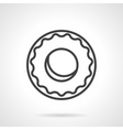 Black simple line donut icon vector image