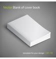 blank book cover template vector image vector image
