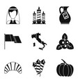 bottle of alcohol icons set simple style vector image vector image