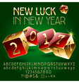 Casino golden Happy New Year greeting card vector image vector image