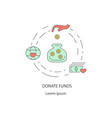 charity and donation out line design concept vector image vector image
