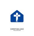 christian church logo bible symbols vector image