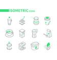 coffee - set modern line isometric icons vector image