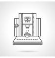 Coffee shop equipment line icon vector image