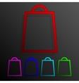 Color set bag banners frame template for design vector image