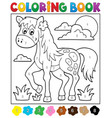 coloring book with horse vector image vector image