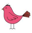 cute bird drawing icon vector image vector image