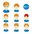 cute ginger little boys with various hair style vector image