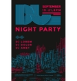 Dance night party vector image vector image