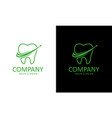 dental logo template design vector image vector image