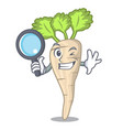 detective parsnip isolated on the cartoon style vector image vector image