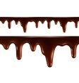 Drops of melted chocolate Seamless vector image vector image