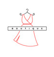 elegant woman dress logo fashion shop symbol vector image